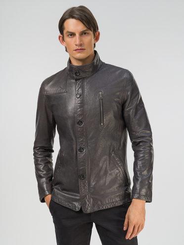 Кожаная куртка кожа, цвет серый, арт. 14809991  - цена 16990 руб.  - магазин TOTOGROUP