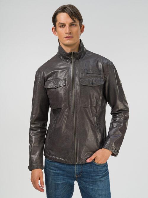 Кожаная куртка артикул 14809992/48 - фото 2
