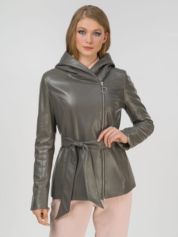 Кожаная куртка эко-кожа 100% П/А, цвет серый, арт. 14810037  - цена 6290 руб.  - магазин TOTOGROUP