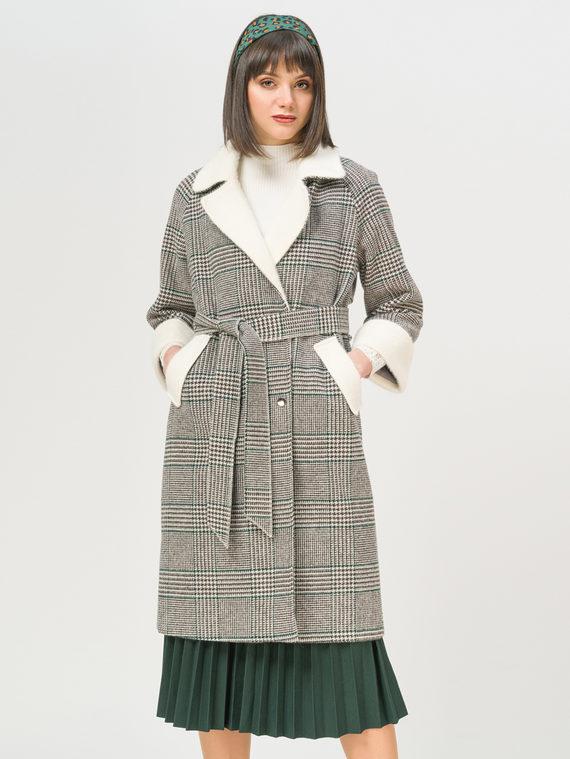 Текстильное пальто 35% шерсть, 65% полиэстер, цвет серый, арт. 14810108  - цена 5590 руб.  - магазин TOTOGROUP