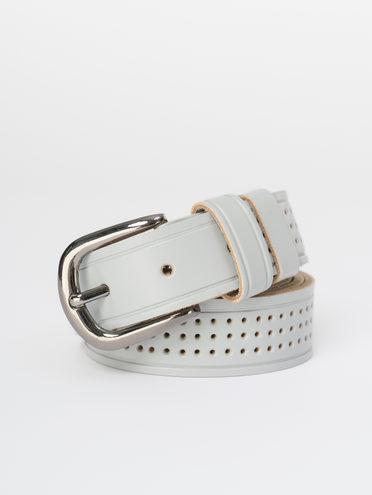 Ремень кожа теленок, цвет серый, арт. 14810400  - цена 990 руб.  - магазин TOTOGROUP