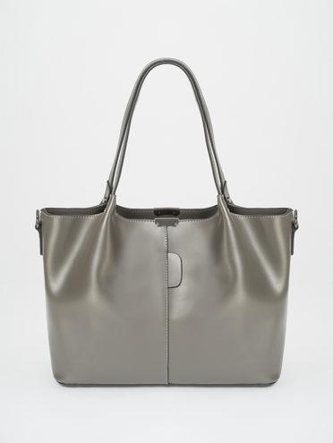Сумка эко-кожа 100% П/А, цвет серый, арт. 14810457  - цена 1850 руб.  - магазин TOTOGROUP