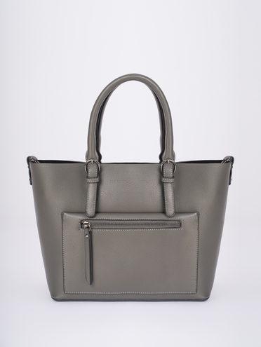 Сумка эко-кожа 100% П/А, цвет серый, арт. 14810458  - цена 2690 руб.  - магазин TOTOGROUP