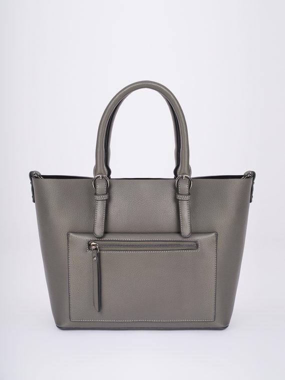 Сумка эко-кожа 100% П/А, цвет серый, арт. 14810458  - цена 1950 руб.  - магазин TOTOGROUP