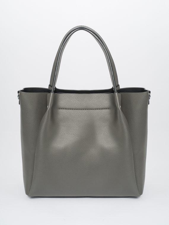 Сумка эко-кожа 100% П/А, цвет серый, арт. 14810459  - цена 1950 руб.  - магазин TOTOGROUP