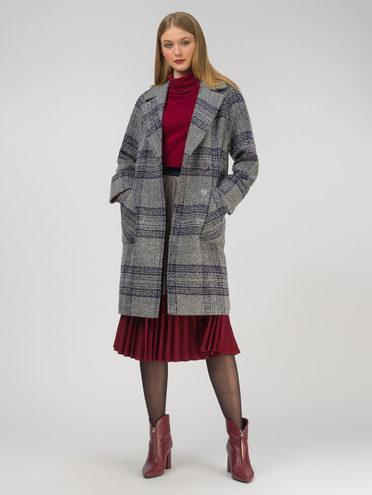 Текстильное пальто 35% шерсть, 65% полиэстер, цвет серый, арт. 14810664  - цена 8990 руб.  - магазин TOTOGROUP