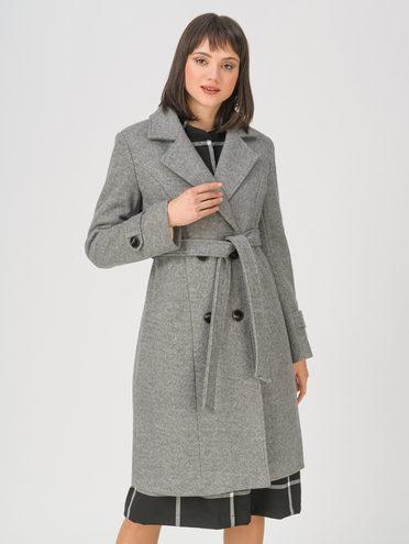 Текстильное пальто 30% шерсть, 70% п.э, цвет серый, арт. 14810727  - цена 6630 руб.  - магазин TOTOGROUP
