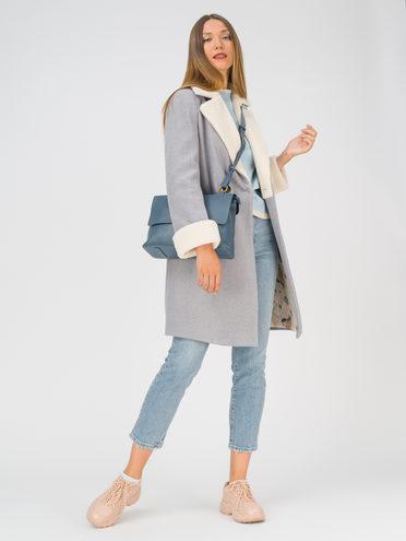 Текстильное пальто 35% шерсть, 65% полиэстер, цвет серый, арт. 14810741  - цена 3990 руб.  - магазин TOTOGROUP