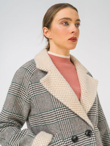 Текстильное пальто 35% шерсть, 65% полиэстер, цвет серый, арт. 14810745  - цена 7990 руб.  - магазин TOTOGROUP