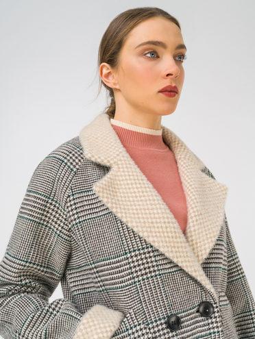 Текстильное пальто 35% шерсть, 65% полиэстер, цвет серый, арт. 14810745  - цена 5890 руб.  - магазин TOTOGROUP