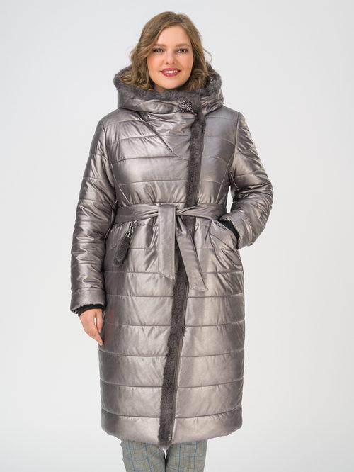 Кожаное пальто артикул 14810866/46 - фото 2