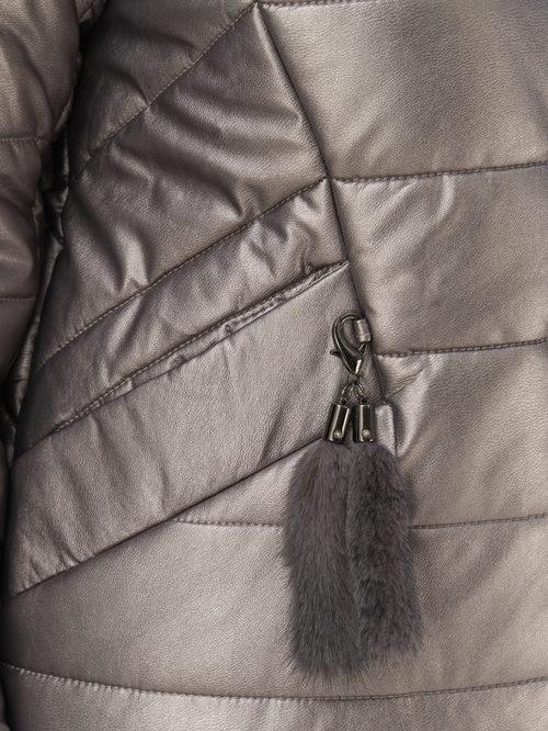Кожаное пальто артикул 14810866/46 - фото 3