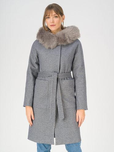 Текстильное пальто 70% полиэстер, 20% шесть, 10% вискоза, цвет серый, арт. 14810873  - цена 8490 руб.  - магазин TOTOGROUP