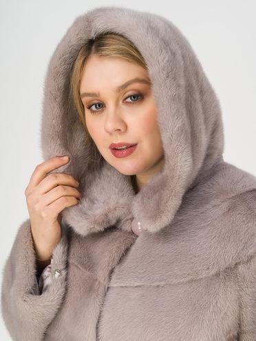 Шуба мех норка крашен., цвет серый, арт. 14811113  - цена 89990 руб.  - магазин TOTOGROUP