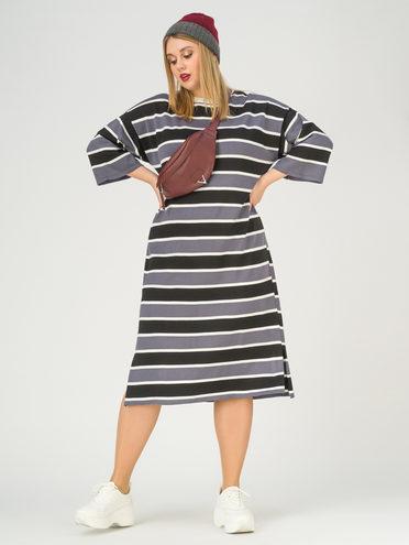 Платье 65% вискоза,35% нейлон, цвет серый, арт. 14811164  - цена 2550 руб.  - магазин TOTOGROUP