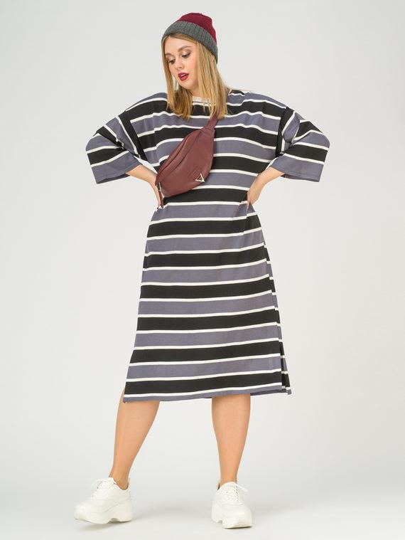Платье 65% вискоза,35% нейлон, цвет серый, арт. 14811164  - цена 2990 руб.  - магазин TOTOGROUP