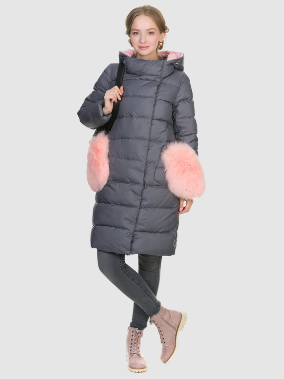 Пуховик текстиль, цвет серый, арт. 14900879  - цена 8490 руб.  - магазин TOTOGROUP