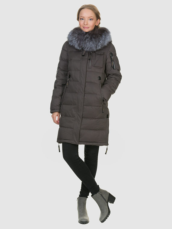 Пуховик текстиль, цвет серый, арт. 14900881  - цена 7990 руб.  - магазин TOTOGROUP