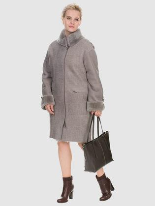 Дубленка дуб. овчина, цвет серый, арт. 14900909  - цена 26990 руб.  - магазин TOTOGROUP