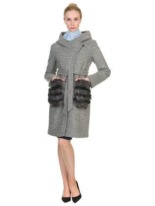 Текстильное пальто 30%шерсть, 70% п\а, цвет серый, арт. 14901141  - цена 7990 руб.  - магазин TOTOGROUP