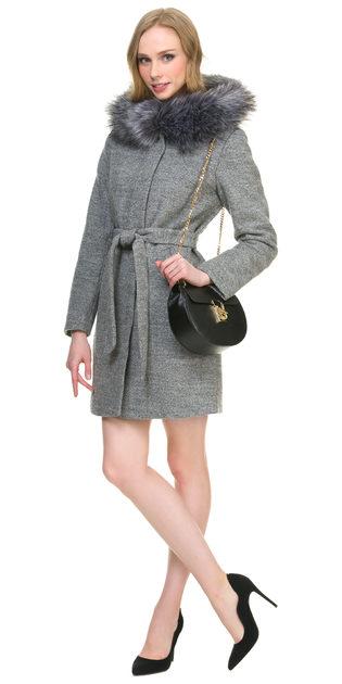 Текстильное пальто 30%шерсть, 70% п\а, цвет серый, арт. 14901142  - цена 6990 руб.  - магазин TOTOGROUP