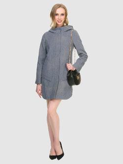 Текстильное пальто 30%шерсть, 70% п\а, цвет серый, арт. 14901145  - цена 6990 руб.  - магазин TOTOGROUP