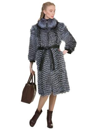 Шуба из чернобурки мех чернобурка, цвет серый, арт. 14902614  - цена 39990 руб.  - магазин TOTOGROUP
