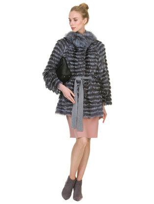 Шуба из чернобурки мех чернобурка, цвет серый, арт. 14902894  - цена 42490 руб.  - магазин TOTOGROUP