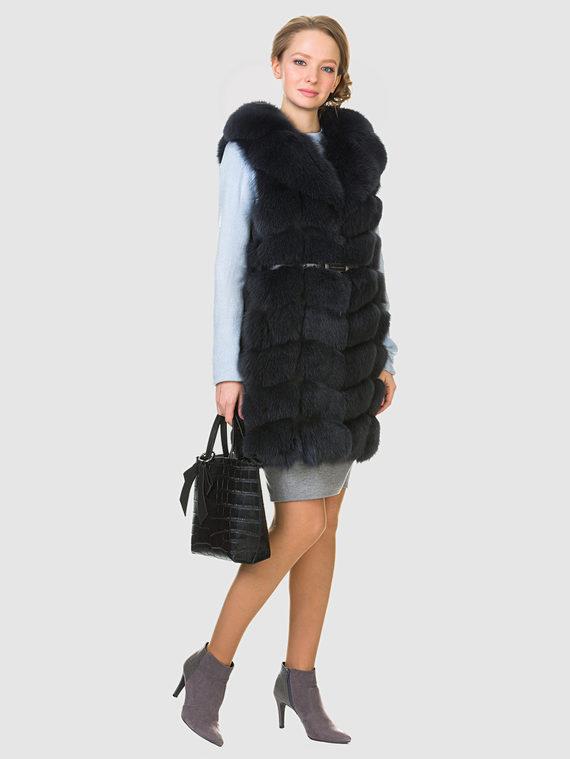 Меховой жилет мех песец, цвет серый, арт. 14903523  - цена 16990 руб.  - магазин TOTOGROUP