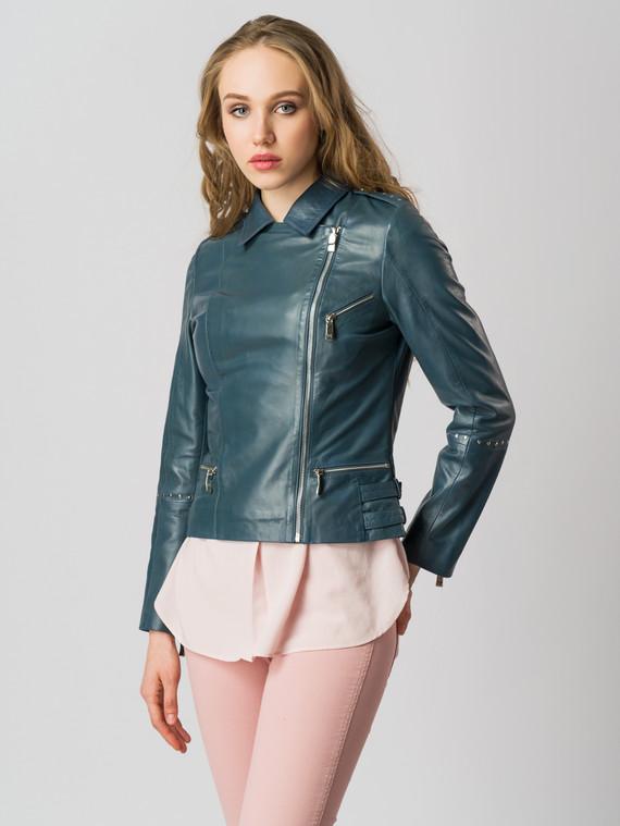 Кожаная куртка кожа , цвет синий, арт. 15005489  - цена 8990 руб.  - магазин TOTOGROUP