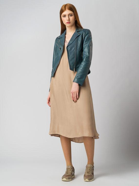 Кожаная куртка кожа , цвет синий, арт. 15005490  - цена 8990 руб.  - магазин TOTOGROUP
