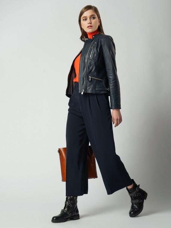 Кожаная куртка кожа , цвет темно-синий, арт. 15005495  - цена 11990 руб.  - магазин TOTOGROUP
