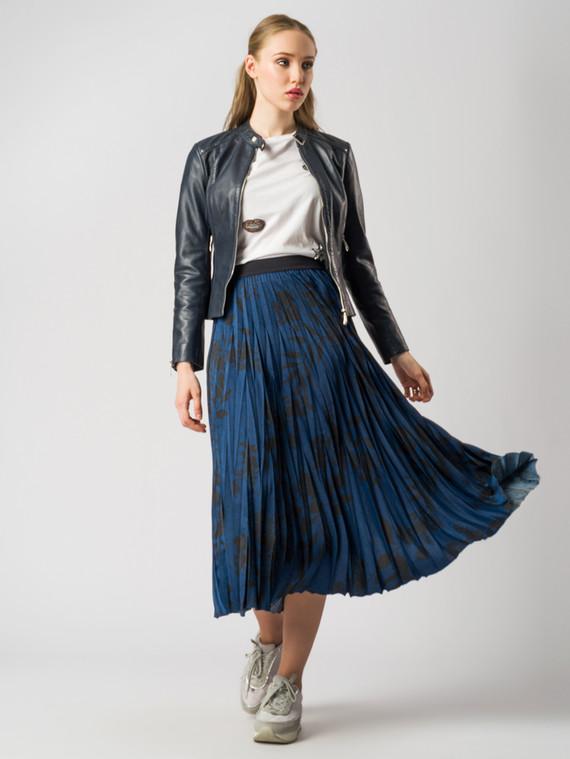 Кожаная куртка кожа , цвет синий, арт. 15005507  - цена 8990 руб.  - магазин TOTOGROUP