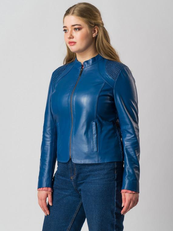 Кожаная куртка кожа , цвет синий, арт. 15005516  - цена 9490 руб.  - магазин TOTOGROUP