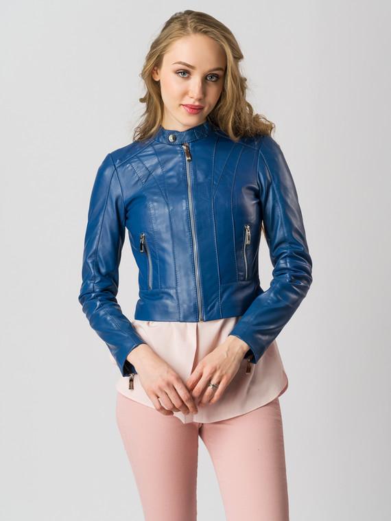 Кожаная куртка кожа , цвет синий, арт. 15005519  - цена 8490 руб.  - магазин TOTOGROUP