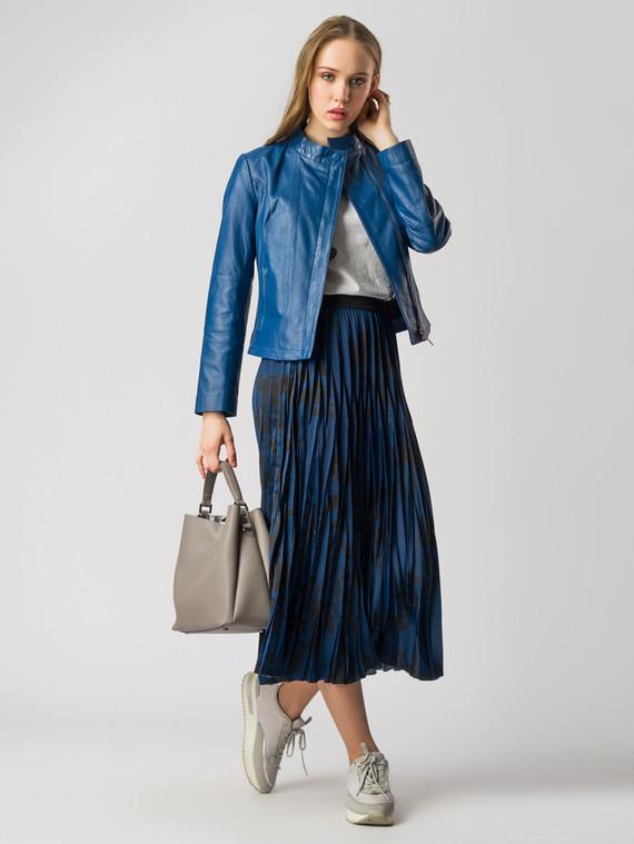 Кожаная куртка кожа , цвет синий, арт. 15005520  - цена 8990 руб.  - магазин TOTOGROUP