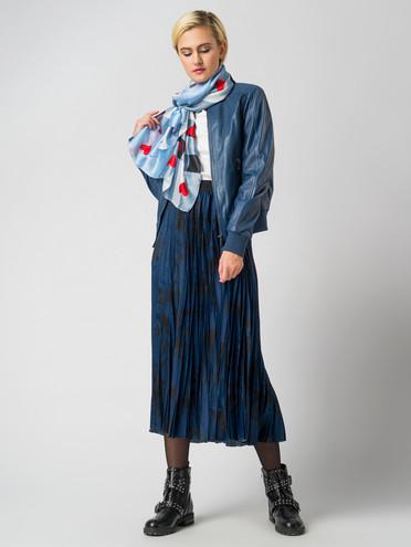 Кожаная куртка кожа , цвет синий, арт. 15005530  - цена 8990 руб.  - магазин TOTOGROUP