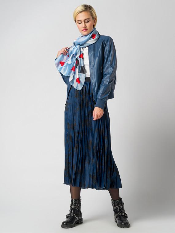 Кожаная куртка кожа , цвет синий, арт. 15005530  - цена 7490 руб.  - магазин TOTOGROUP
