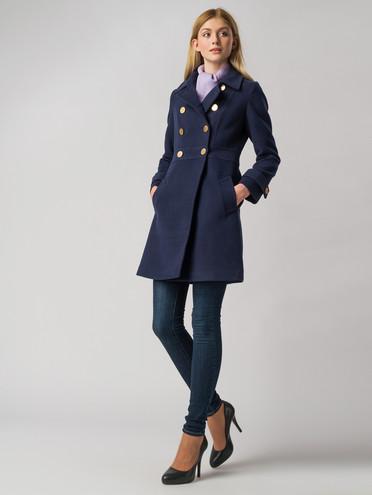 Текстильное пальто 30%шерсть, 70% п\а, цвет синий, арт. 15005649  - цена 4490 руб.  - магазин TOTOGROUP