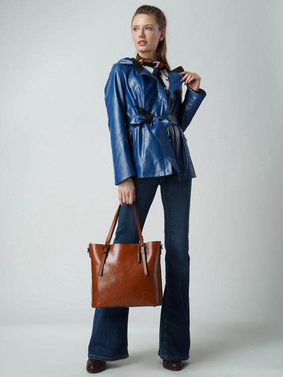 Кожаная куртка эко кожа 100% П/А, цвет синий, арт. 15005773  - цена 6290 руб.  - магазин TOTOGROUP