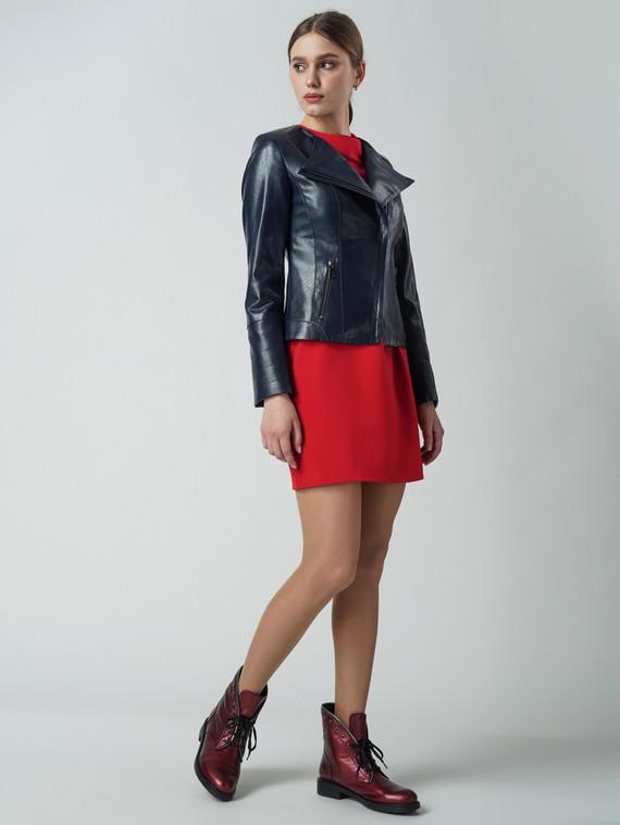 Кожаная куртка эко кожа 100% П/А, цвет темно-синий, арт. 15005799  - цена 5590 руб.  - магазин TOTOGROUP