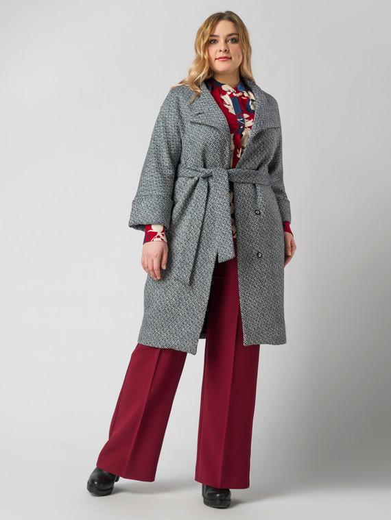Текстильное пальто 30%шерсть, 70% п.э, цвет синий, арт. 15005831  - цена 3990 руб.  - магазин TOTOGROUP