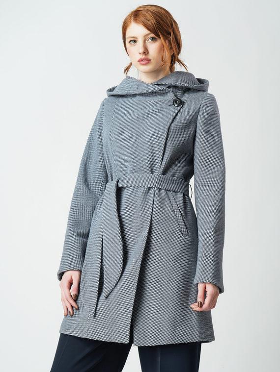 Текстильное пальто 30%шерсть, 70% п\а, цвет синий, арт. 15005856  - цена 4990 руб.  - магазин TOTOGROUP