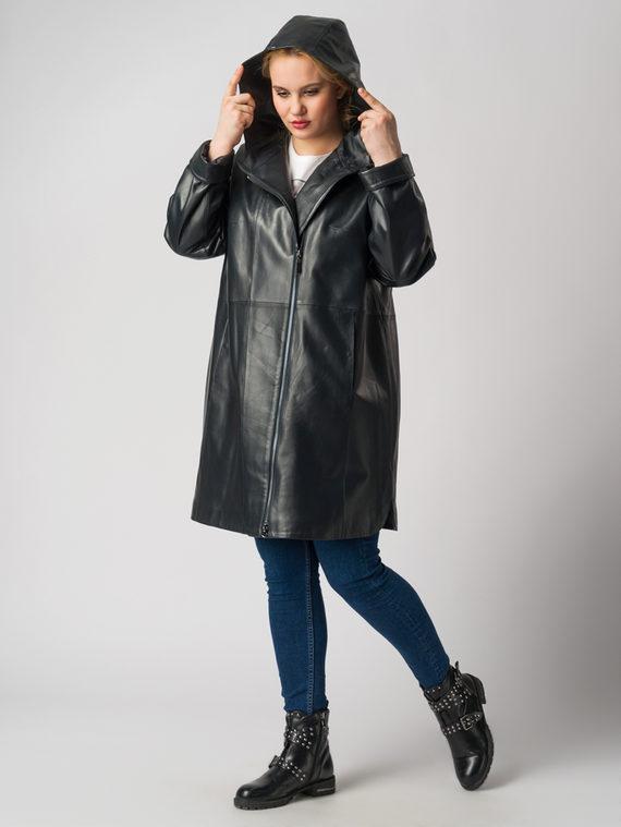 Кожаная куртка кожа баран, цвет темно-синий, арт. 15005977  - цена 14190 руб.  - магазин TOTOGROUP