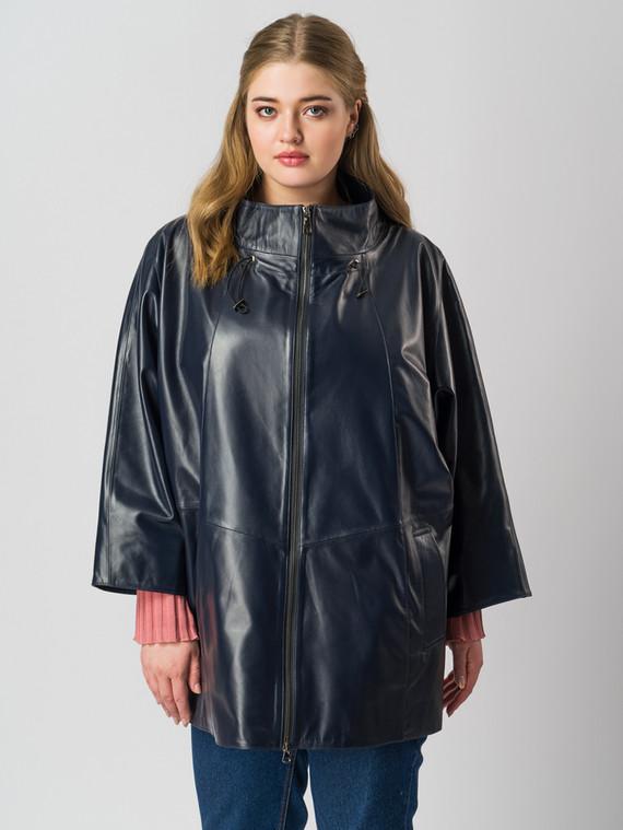 Кожаная куртка кожа баран, цвет темно-синий, арт. 15005980  - цена 9490 руб.  - магазин TOTOGROUP