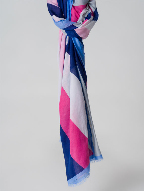 Шарф 100% бамбук, цвет синий, арт. 15005984  - цена 790 руб.  - магазин TOTOGROUP