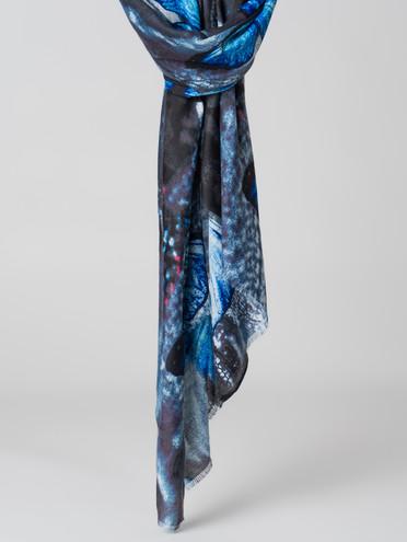 Шарф 30% шерсть, 70% вискоза, цвет синий, арт. 15005995  - цена 1190 руб.  - магазин TOTOGROUP
