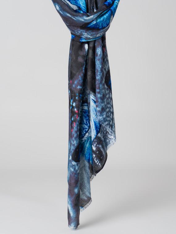 Шарф 30% шерсть, 70% вискоза, цвет синий, арт. 15005995  - цена 1410 руб.  - магазин TOTOGROUP