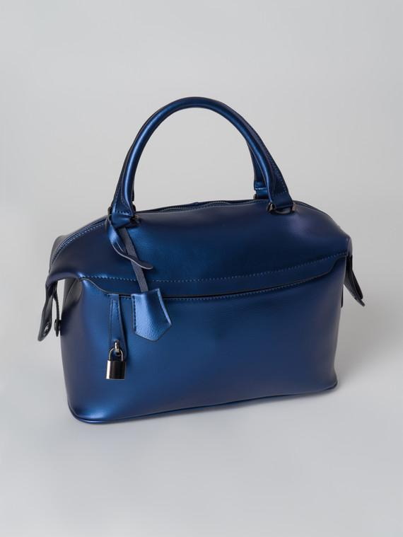 Сумка кожа теленок, цвет синий, арт. 15006013  - цена 5590 руб.  - магазин TOTOGROUP