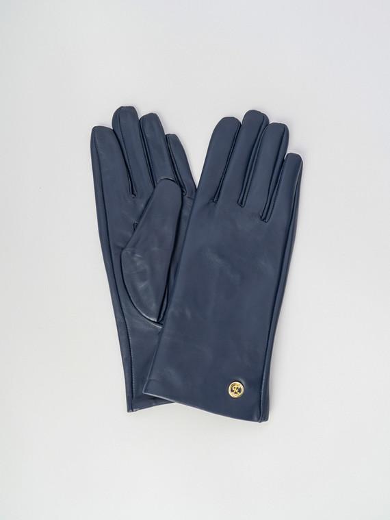 Перчатки кожа , цвет синий, арт. 15006071  - цена 2060 руб.  - магазин TOTOGROUP